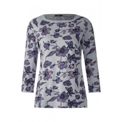 Melange Blumenprint Shirt by Cecil