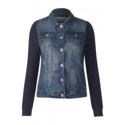 Materialmix Jeansjacke by Cecil