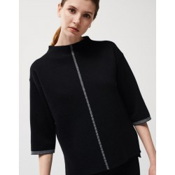 Boxy Pullover Tizia contrast by someday