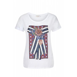 T-Shirt mit Frontprint by Rich & Royal