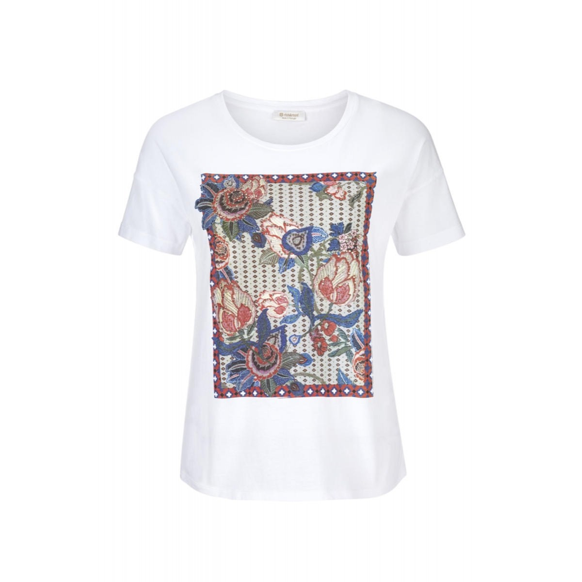 d4bc1b1388d4 Pattern mix Tee by Rich   Royal - blue green red white - XS