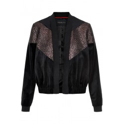 Samt Bomberjacke mit Metallic-Print by Caddis Fly