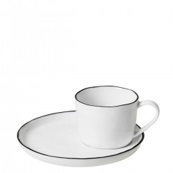 Cup Salt (Ø 6,4 cm) with saucer by Broste Copenhagen