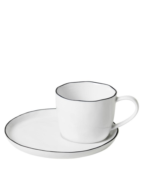 Cup Salt (Ø 8,2 cm) with saucer