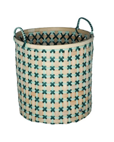 Bamboo basket (Ø 40cm) by Handed by