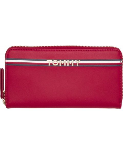Large logo leather wallet by Tommy Hilfiger