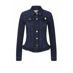 Denim-Jacket mit Peplum-Schösschen by Rich & Royal