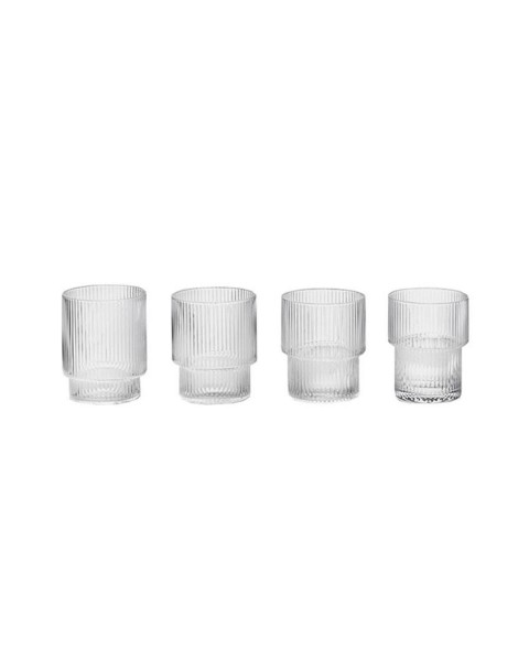 Glasses Set RIPPLE (8,8x7cm) by ferm Living