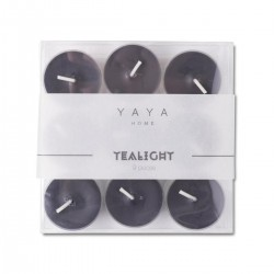 Set of 9 black tealights by Yaya