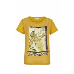 Material-Mix T-Shirt mit Fantasy-Print by Rich & Royal