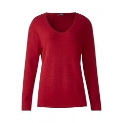 Cosy V-Neck Pullover by Street One