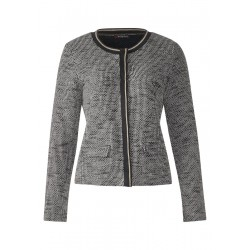 Bouclé-Jacke mit Metallfaden by Street One