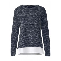 Bouclé Shirt in 2in1 Optik by Cecil