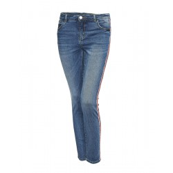 Skinny Jeans Ely red stripe by Opus