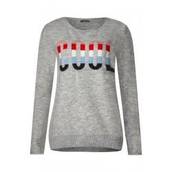 Wording pullover by Street One