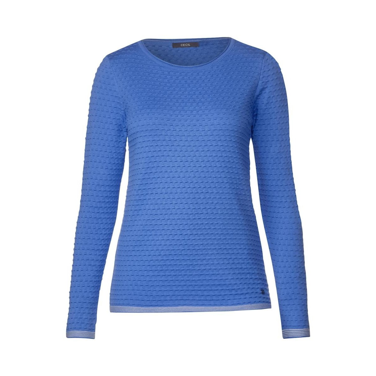 low cost best sell ever popular Sweater with dot structure by Cecil - blue - S
