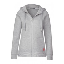 Sweatjacke mit Materialmix by Cecil