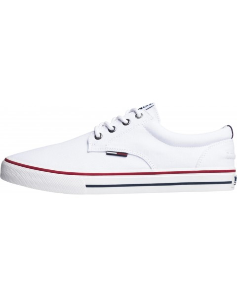 promo code 67c86 98514 Low-top Textil-Sneaker by Tommy Hilfiger - white - 42 - EAN: 8719257516838