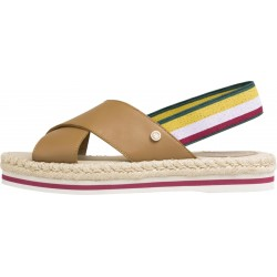 Sandales plates à rayures multicolores by Tommy Hilfiger