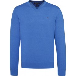 Cotton-silk V neck jumper by Tommy Hilfiger