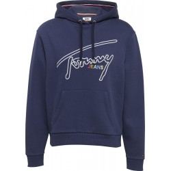 Signature logo fleece hoody by Tommy Jeans