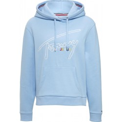 Hoodie aus Fleece mit Tommy-Signature by Tommy Jeans