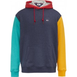 Colour-blocked fleece hoody by Tommy Jeans