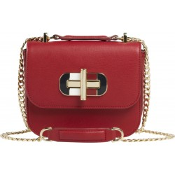 Leather turn lock crossover bag by Tommy Hilfiger