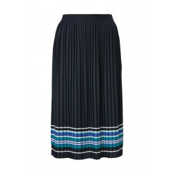 Pleated skirt with striped hem by Marc O'Polo