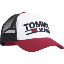 Colour-blocked trucker cap by Tommy Jeans