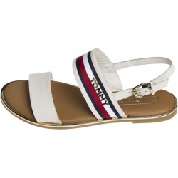 Signature tape flat sandals by Tommy Hilfiger
