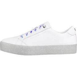 Glitter logo trainers by Tommy Hilfiger