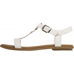 Flat leather monogram sandals by Tommy Hilfiger