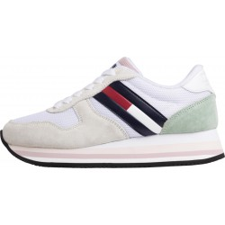 Signature tape heel retro-style trainers by Tommy Hilfiger