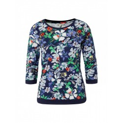 Sweatshirt with floral pattern by Tom Tailor Denim