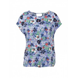 Florally patterned short sleeve blouse by Tom Tailor Denim