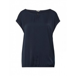 T-Shirt mit Material-Mix by Tom Tailor
