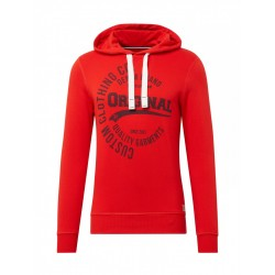 Hoodie mit rundem Brust-Print by Tom Tailor Denim