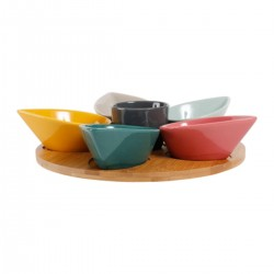 Set of 6 cereal bowls with tray by SEMA Design