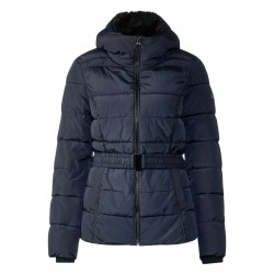 100% original Straßenpreis New York Padded jacket with belt by Cecil - blue - L - EAN: 4057516453185