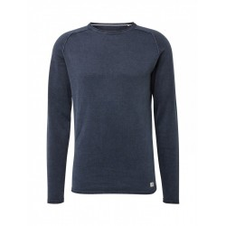 Pullover mit Logo-Badge vorne am Saum by Tom Tailor Denim
