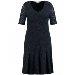 Elasticated lace dress by Samoon