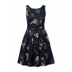 Dress with an all-over floral pattern by Tom Tailor Denim