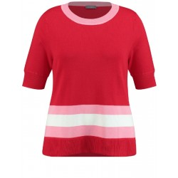 Short sleeve jumper with colour blocking by Samoon