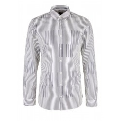 Slim: Striped business shirt by s.Oliver Black Label