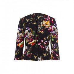 Blazer with flower print by More & More