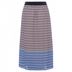 Grafical Print Skirt by More & More