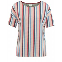 Textured top with a striped pattern by Taifun