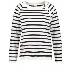 Striped jumper with an appliqué by Taifun