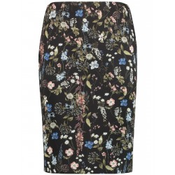 Scuba skirt with a floral print by Taifun